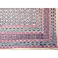 Handmade 100% Cotton Moroccan Foulard Tapestry Tablecloth Coverlet Spread Twin 70x106 & Full 88x106 Inches