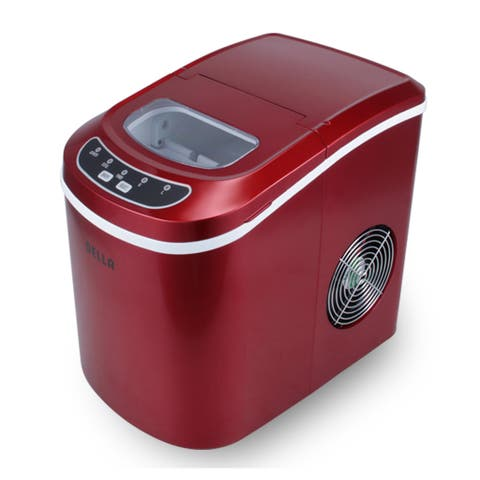 Della Portable Electric Ice Maker Machine Producing 26 Lbs. Of Ice Per Day- Red