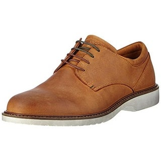 ECCO Mens Ian Leather Plain Toe Derby Shoes - 47
