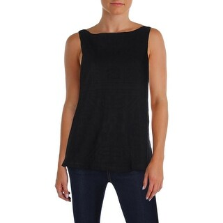 Lauren Ralph Lauren Womens Tank Top Embroided Mesh