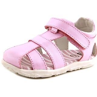 Umi Lia Toddler Round Toe Leather Pink Fisherman Sandal