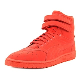 Puma Sky II Hi Nbk Men Round Toe Leather Red Sneakers
