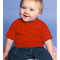 Rabbit Skins 3401 Infant Cotton T-Shirt, Red, Size - 24