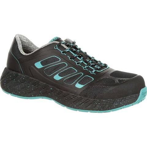 Georgia Boot Women's GB00233 ReFLX Alloy Toe Work Athletic Shoe Black Leather/Synthetic