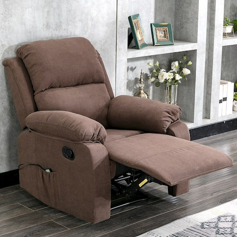 Moda Home Overstuffed Pillow and Armrest Recliner Chair Sofa