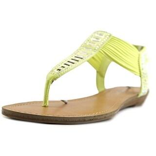 Madden Girl Triixie Women Open Toe Canvas Thong Sandal