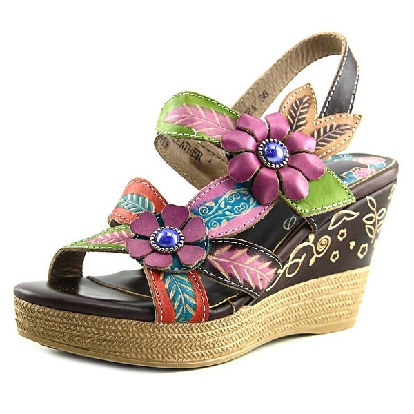 Spring Step Althea Women Open Toe Leather Brown Sandals