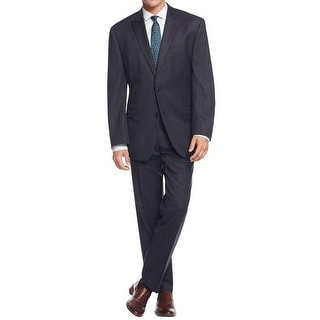 Calvin Klein Mens Two-Button Suit Wool Pinstripe