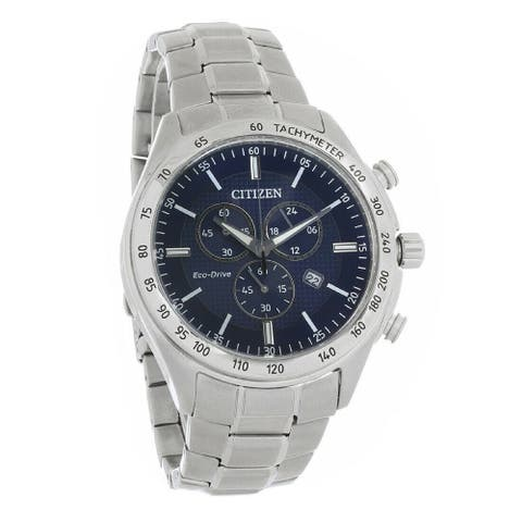 Citizen Men's AT2410-52L 'Brycen' Chronograph Stainless Steel Watch - Blue