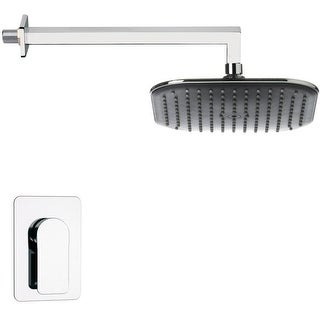 Nameeks SS1282  Remer 2.5 GPM Single Function Rain Shower Head with Valve Trim Rough In Included - Chrome