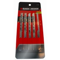 Black & Decker 75-530 Wood Cut Jig Saw Blade Set, 5 Pc