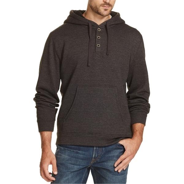 Weatherproof Mens 1/4 Button Hoodie Sweatshirt. Opens flyout.