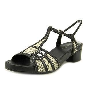 Vaneli Klarina Open-Toe Leather Slingback Heel