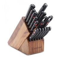 Wusthof Gourmet Eighteen Piece Promo Block Set, Acacia 9718-6
