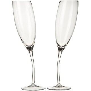 Nambe Rogaska Tilt Champagne Flute Set of 2