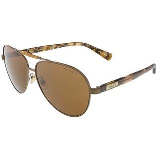 Ralph Lauren RA4110 303883 Brown Aviator sunglasses