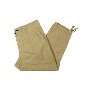 Lauren Ralph Lauren Womens Plus Cargo Pants Twill Flat Front