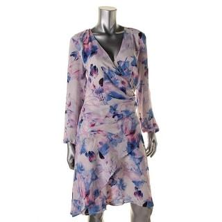 Robert Rodriguez Womens Chiffon Printed Wear to Work Dress
