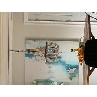 Mindy 3 Light Wood Bead Chandelier - Gold Bronze - 28x16x16