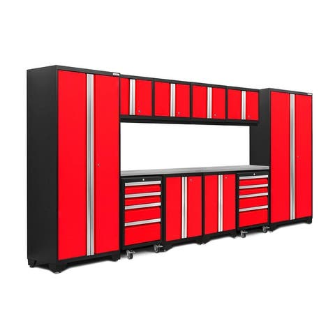 NewAge Products Bold Series 12-pc. Steel Garage Cabinet Set