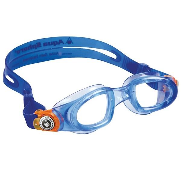 fb305b15f3894 Shop Aqua Sphere Moby Kid Clear Lens Swim Goggles - Blue/Orange ...