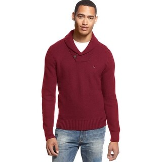 Tommy Hilfiger Portland Shawl Collar Sweater Red Storm XX-Large