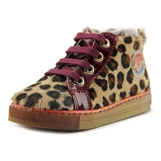 Falcotto Kevin Toddler Round Toe Suede Brown Sneakers
