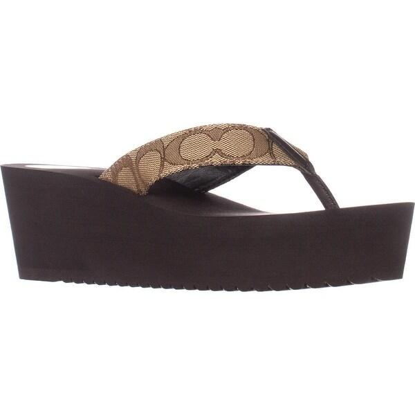 622ff833b Shop Coach Jen Slip-On Wedge Flip Flop Sandals