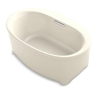 Kohler Underscore 5 Foot Left Drain Soaking Tub in White (apron ...