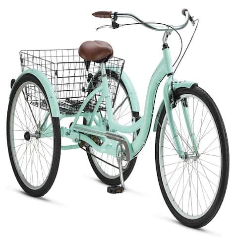 Meridian Adult Tricycle, 26-inch wheels, rear storage basket, Mint
