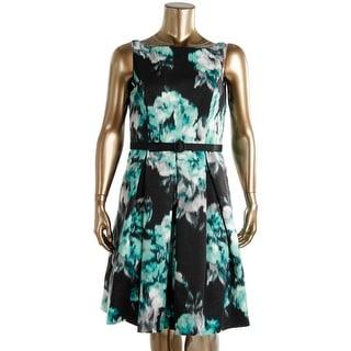 Eliza J Womens Printed Sleeveless Party Dress - 14