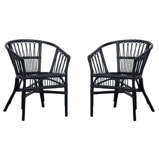 """Link to Safavieh Adriana Rattan Accent Chairs (Set of 2) - 22.8"""" W x 23.6"""" L x 30.3"""" H Similar Items in Living Room Chairs"""
