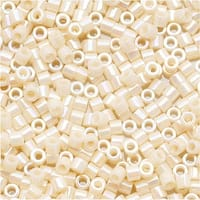 Miyuki Delica Seed Beads, 15/0 Size, 4 Grams, Opaque Cream AB DBS157