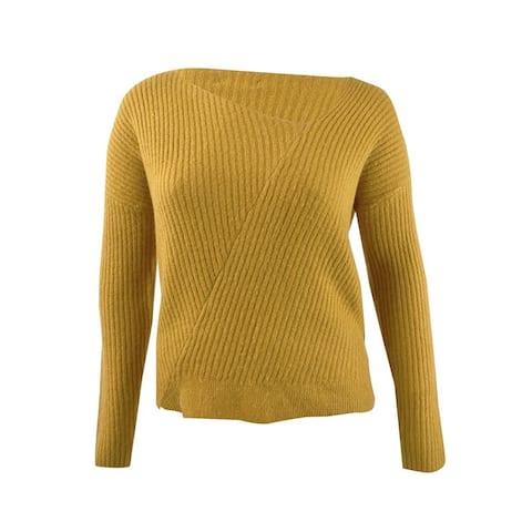 Guess Women's Alivia Asymmetric Sweater (XL, Tiger Eye)