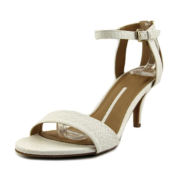 New Directions Francine Women Open Toe Synthetic White Sandals