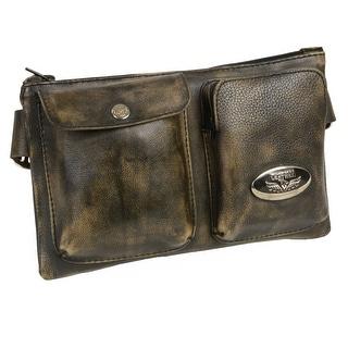 Unisex Belt Bag W/Two Front Pockets