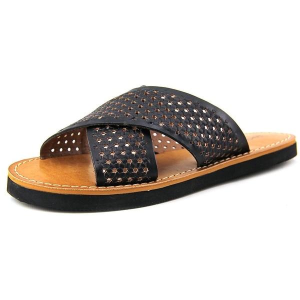 Lucky Brand Dadeen 2 Women Open Toe Leather Black Slides Sandal