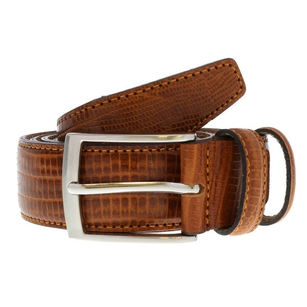 Renato Balestra Y653 MARRONE Brown Leather Mens Belt