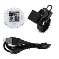 GolfBuddy VoiceX Golf GPS Rangefinder (White) and Universal Golf Cart Mount