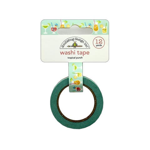 5890 doodlebug sweet summer washi tape tropical punch