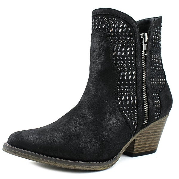 Mia Joaquin Women Pointed Toe Suede Black Ankle Boot
