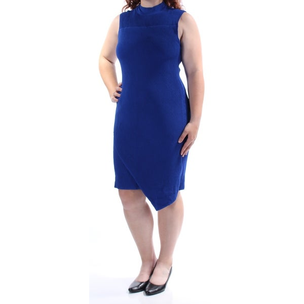 1fe420a84e1 Shop BAR III Womens Blue Textured Sleeveless Turtle Neck Above The Knee  Body Con Dress Size  XS - Free Shipping On Orders Over  45 - Overstock.com  - ...
