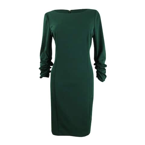 DKNY Green Long Sleeve Above The Knee Dress 10