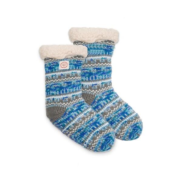 Dearfoams Women's Fairisle Plush Slipper Sock - Free Shipping On ...