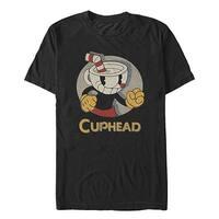 Cuphead Logo Portrait Circle Mens Graphic T Shirt