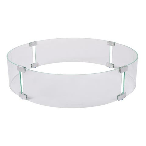 Tempered Glass Wind Guard for Round Fire Pits