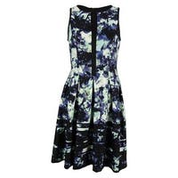 Vince Camuto Women's Front Keyhole Flare Dress - Print