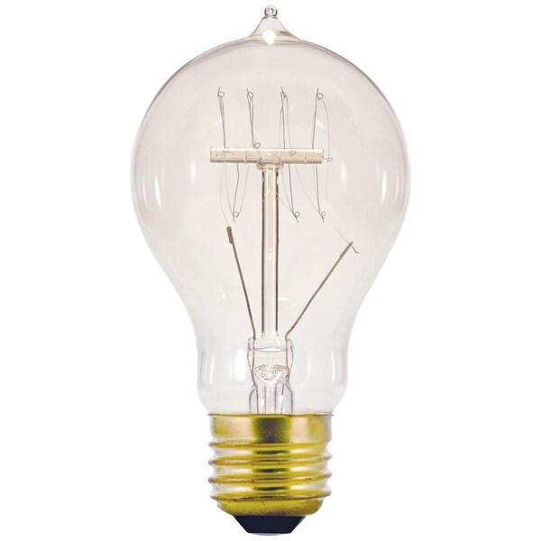 shop satco s2419 a19 vintage quad loop coil design light bulb 60