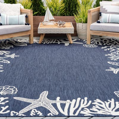 Alise Rugs Exo Novelty Coastal Indoor Outdoor Area Rug