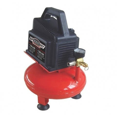 Speedway 52710 Pancake Air Compressor, 1 Gallon, 1/3 HP